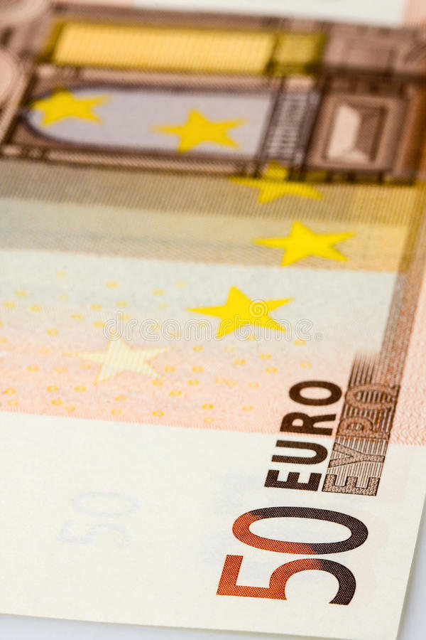 Download 50 Euro Banknote Closeup stock image. Image of macro - 30321641