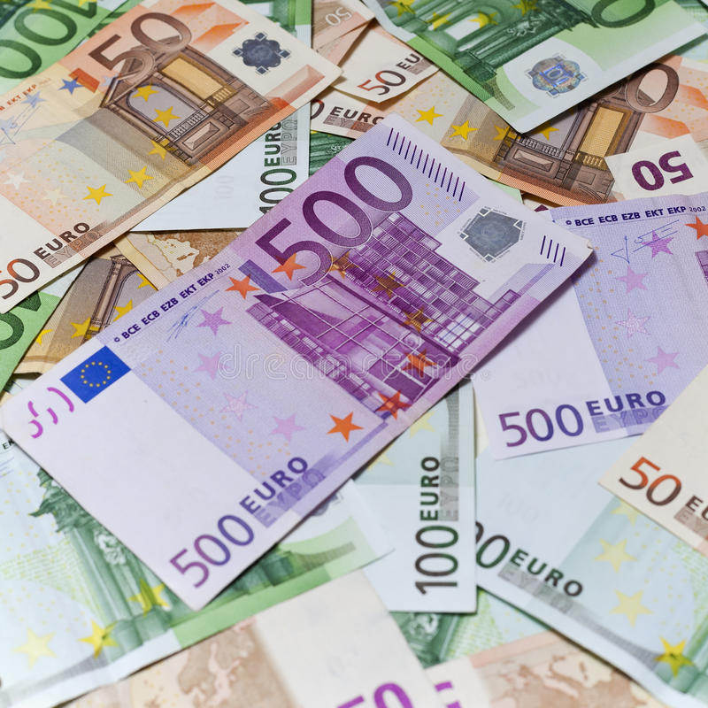 Euro banknotes. Background image of Euro banknotes royalty free stock photography