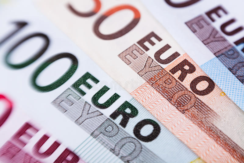 Download Euro banknotes closeup stock photo. Image of business - 30610280