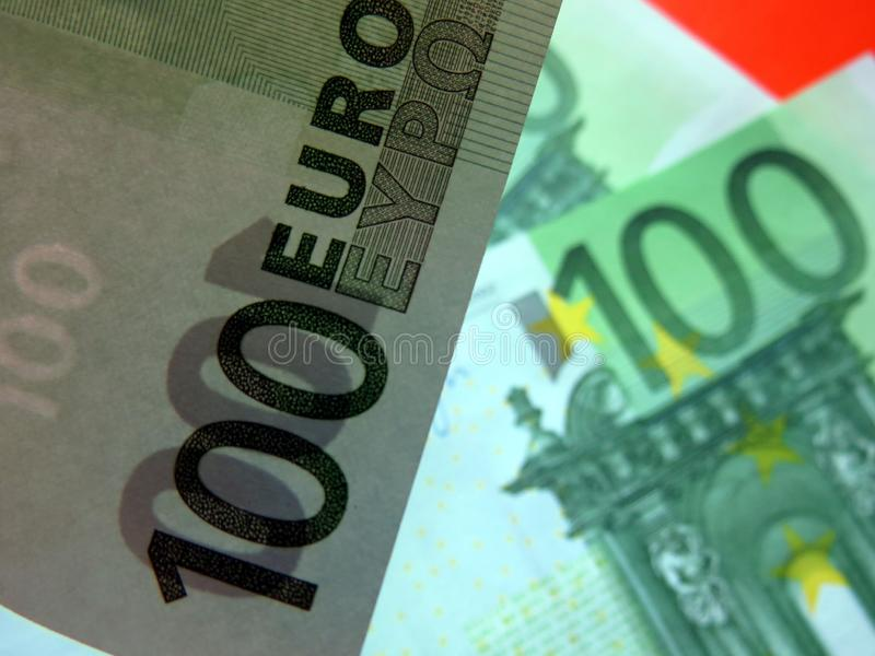 Euro banknotes in different angles royalty free stock images