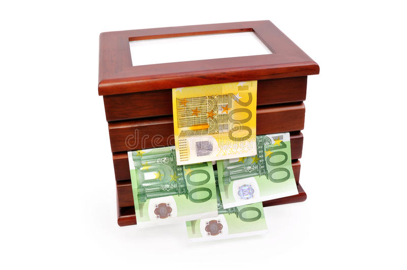 Download Euro Banknotes In A Wooden Casket Royalty Free Stock Images - Image: 17779089