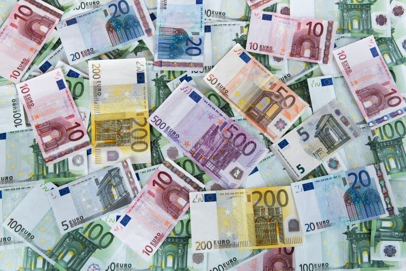 Euro banknotu tło zdjęcie royalty free