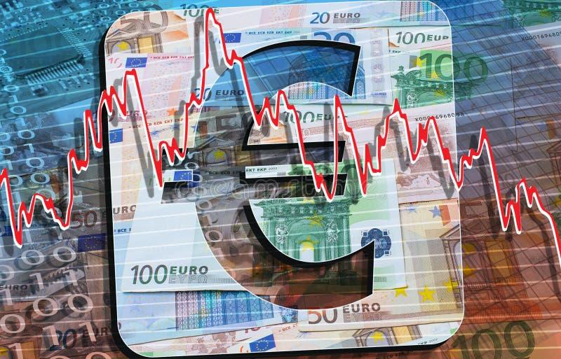 Euro banknoty i monety fotografia royalty free