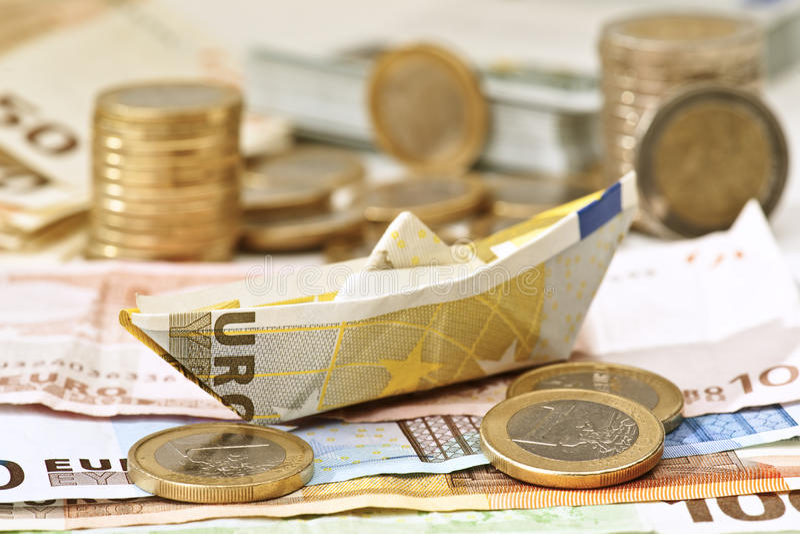 Euro barca fotografie stock libere da diritti