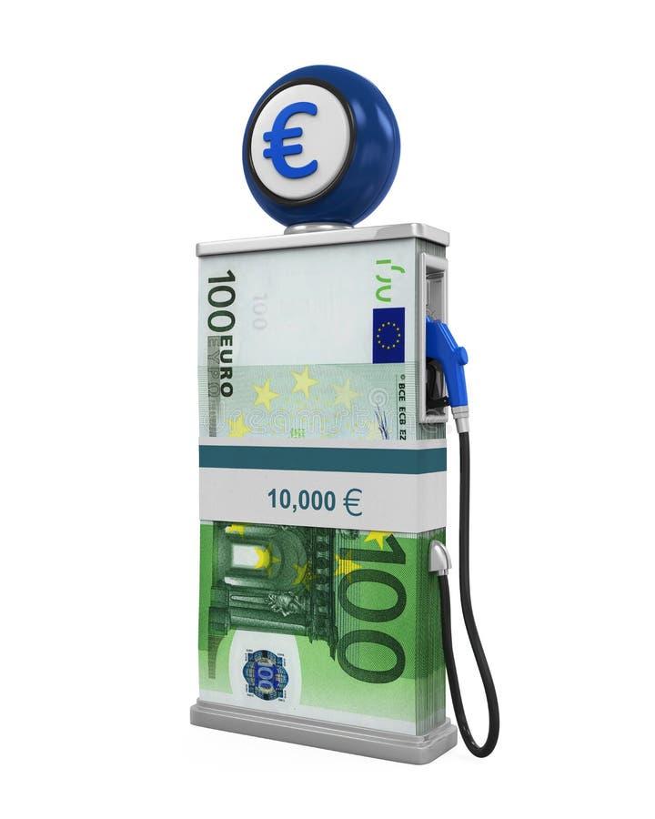 Euro bec de pompe à pile et à gaz illustration stock