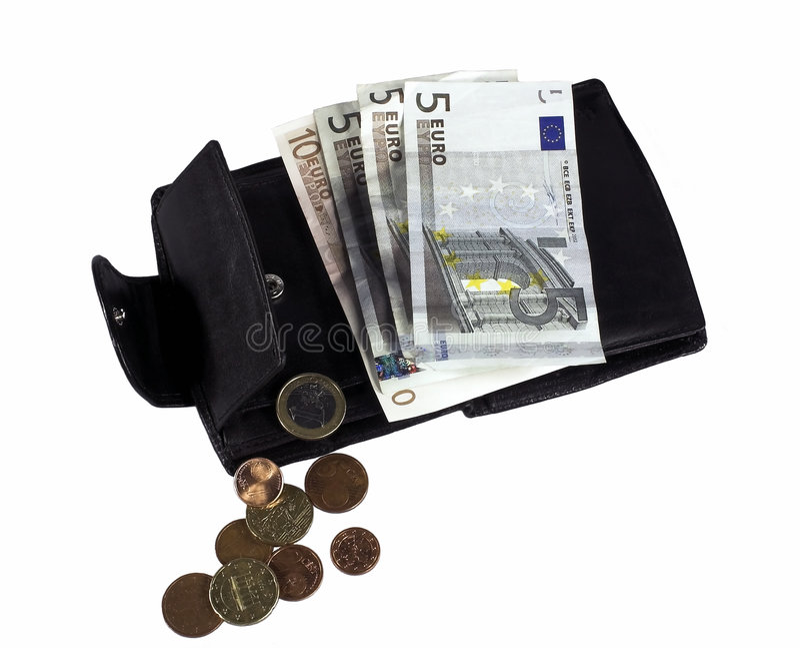 Euro berechnet incl. einige Cents stockbild