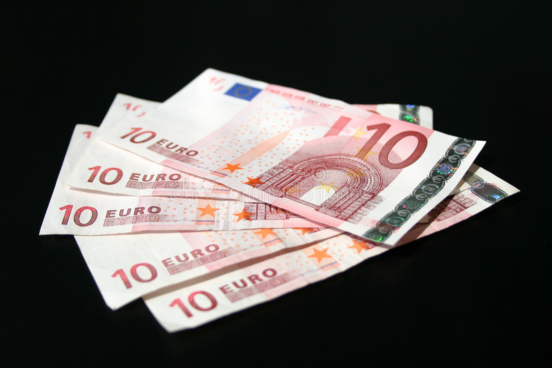 Euro Billets De Banque Photo stock
