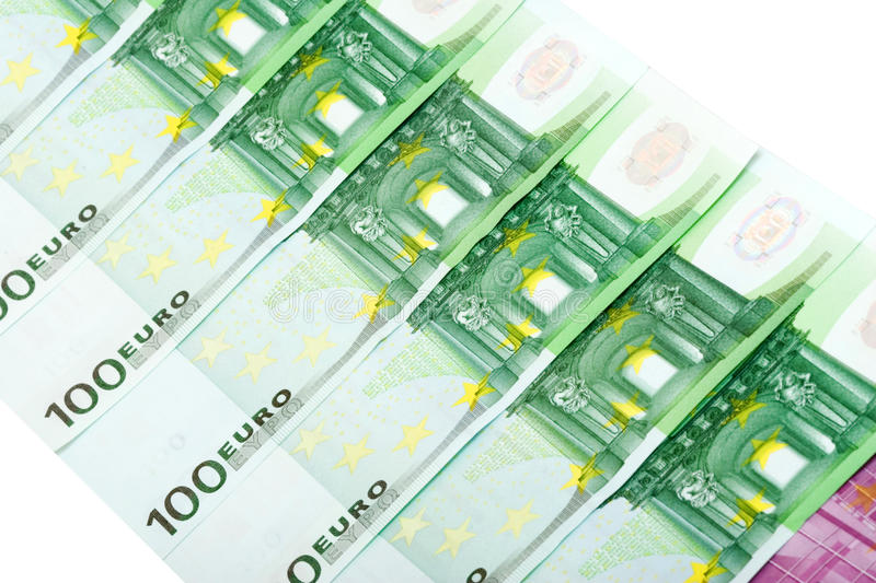 Euro billets de banque photo libre de droits