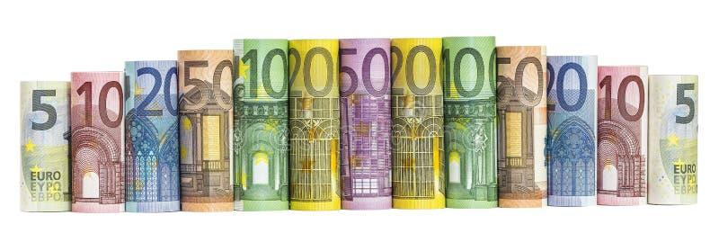 Euro billets de banque d'argent photo libre de droits