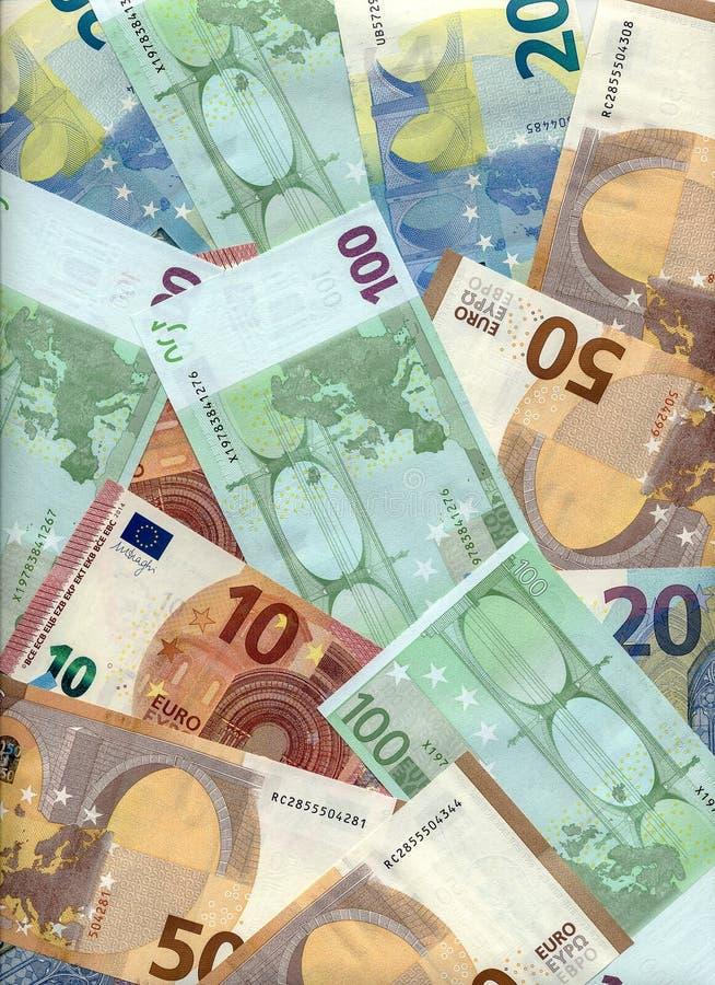 Euro billets de banque de diverse valeur image libre de droits