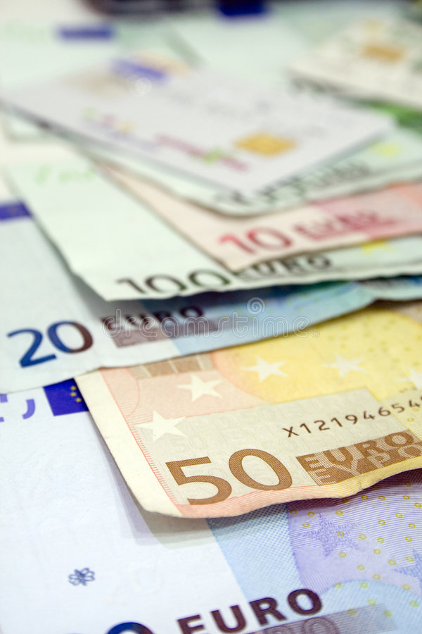 Euro billls stock photo