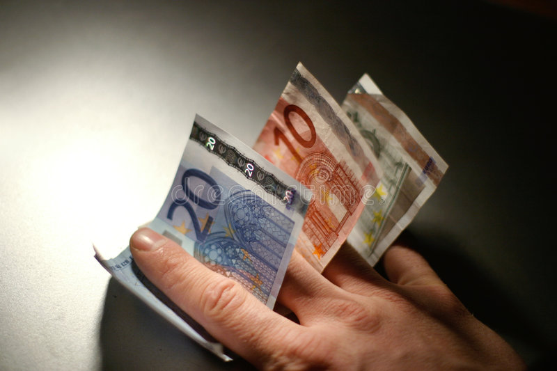 Euro Bills royalty free stock images