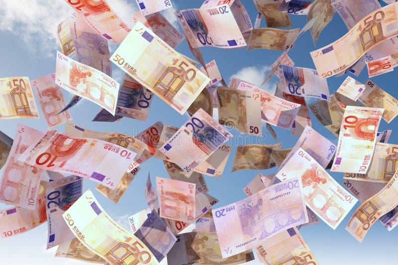 Euro bills close up stock images