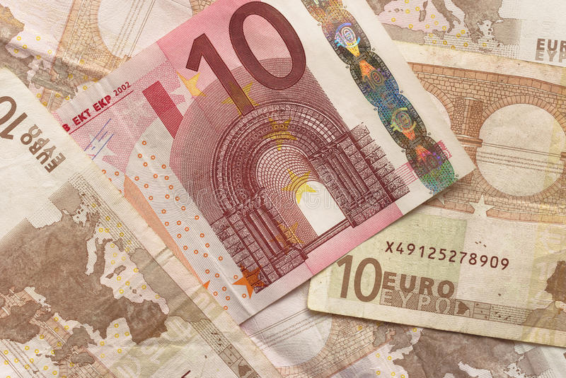 Euro Bills - 10 Stock Photo