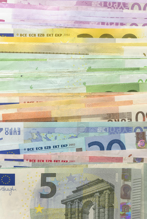 Download Euro Bills stock image. Image of banknote, money, vertical - 32076001