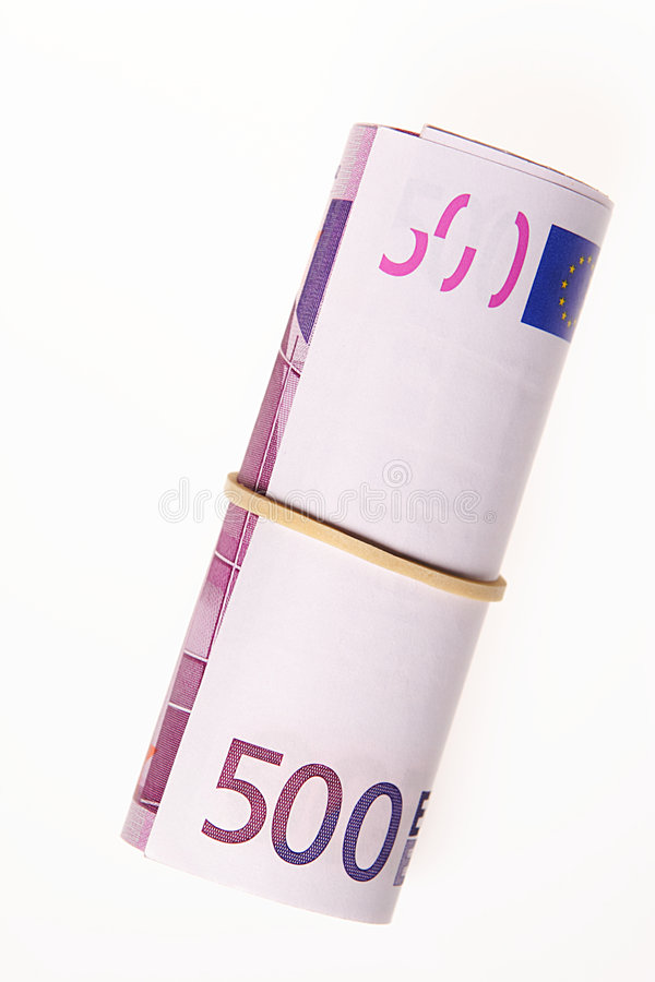 Download Euro Bills On A Roll Stock Image - Image: 5770261