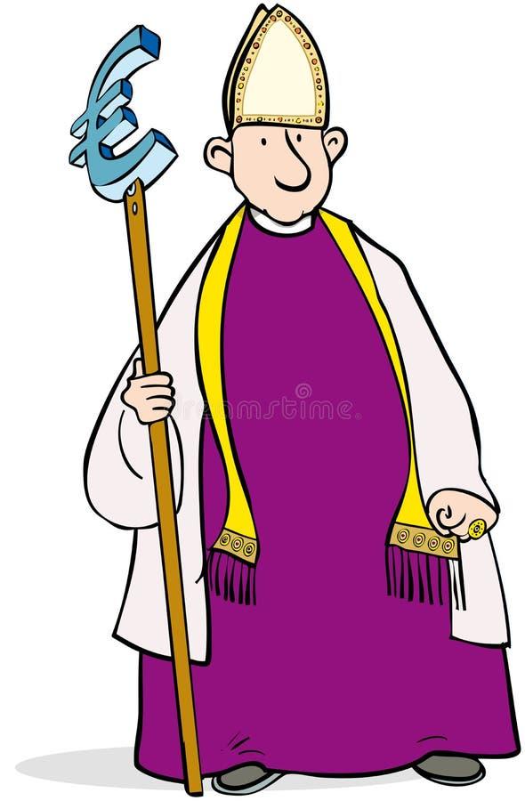 Euro bishop royalty free illustration