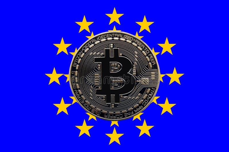 Euro Bitcoin zdjęcie stock