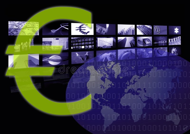 Euro Business corporate image, multiple screen stock images