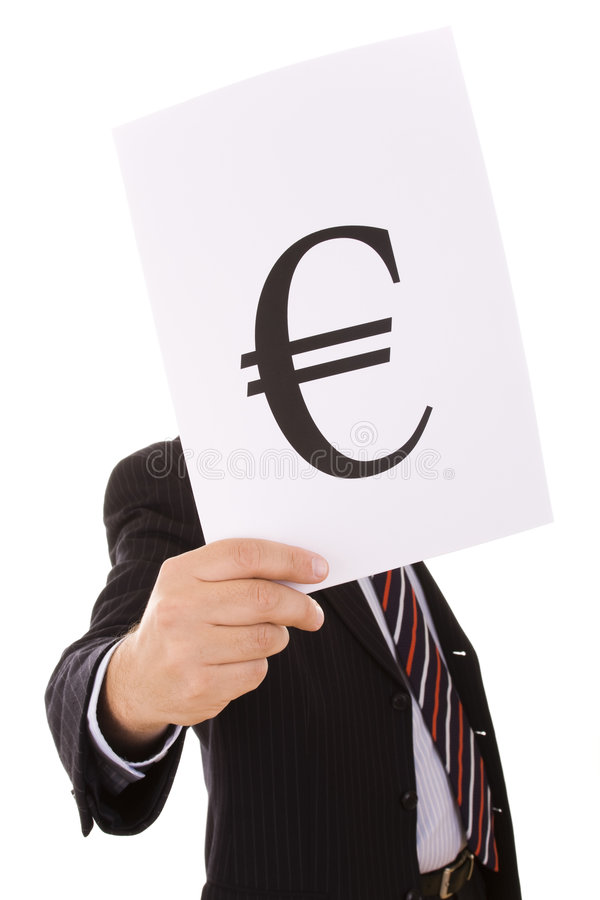 Euro Businessman Royalty Free Stock Photos