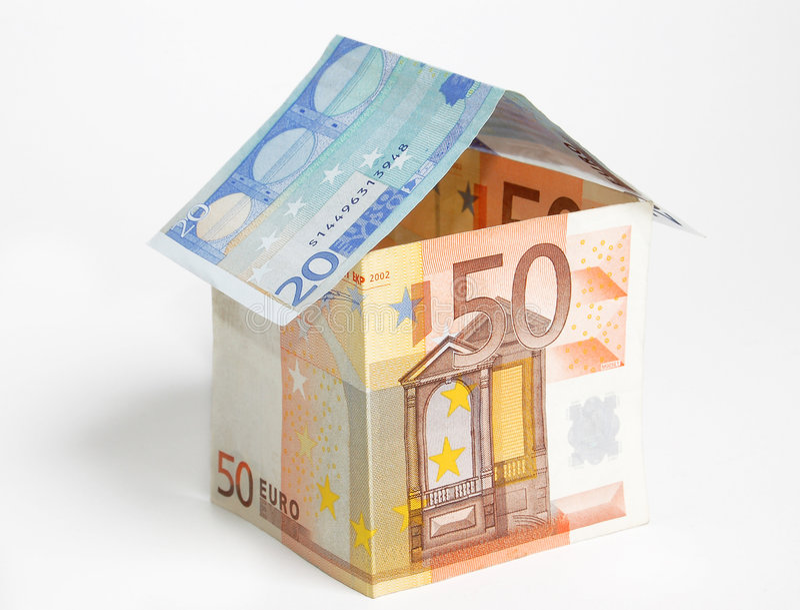Euro- casa imagem de stock royalty free