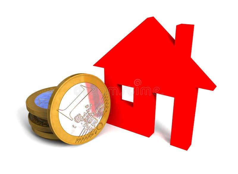 Euro casa illustrazione di stock