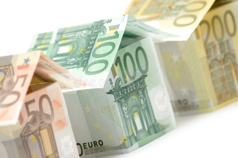 Euro- casas (vista próxima) imagem de stock royalty free