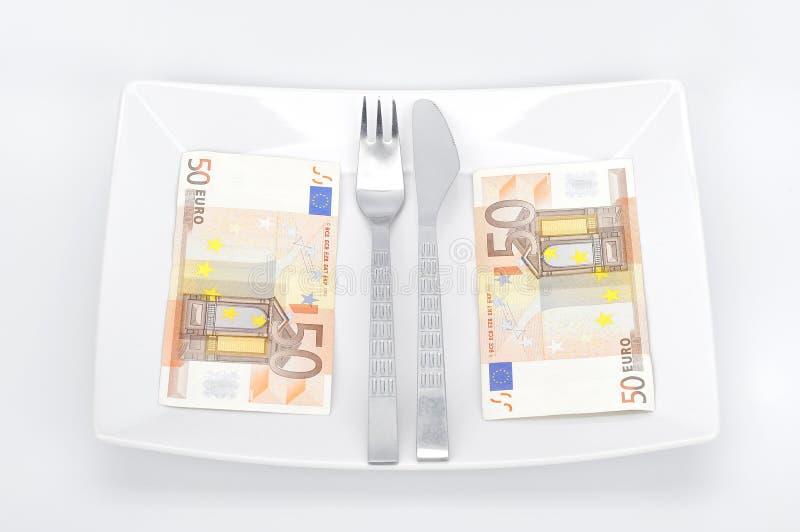 Euro cena fotografia stock libera da diritti