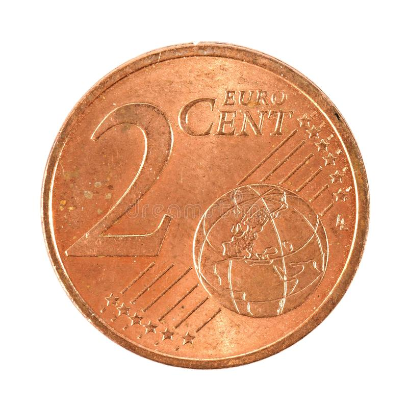 2 Euro centów moneta fotografia stock
