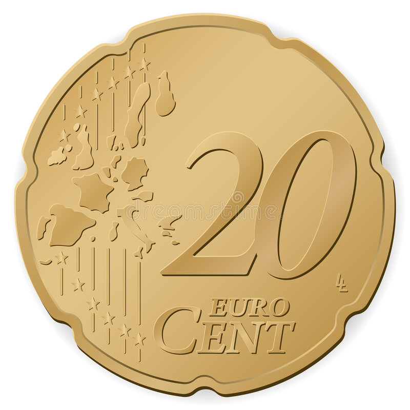 euro cent 20 stock illustratie