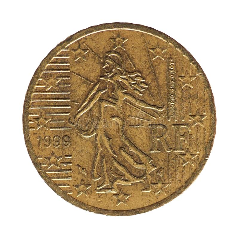 50 euro cent coin, France, Europe stock photography