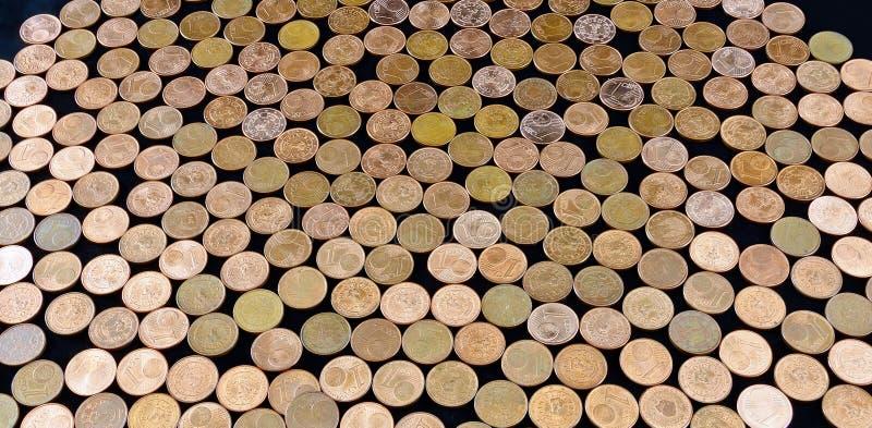 Euro-Cent-Münzen lizenzfreie stockfotos