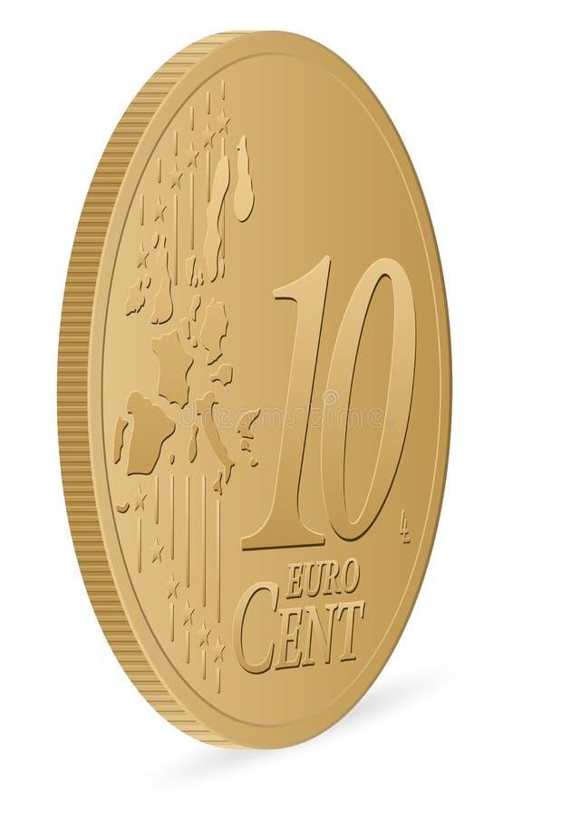 Euro- centavo dez ilustração do vetor