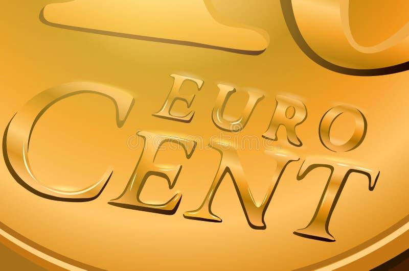 Euro centmuntstuk stock illustratie