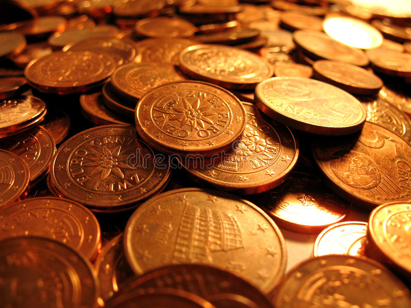Download Euro cents 2 stock photo. Image of euro, note, cent, small - 1792316