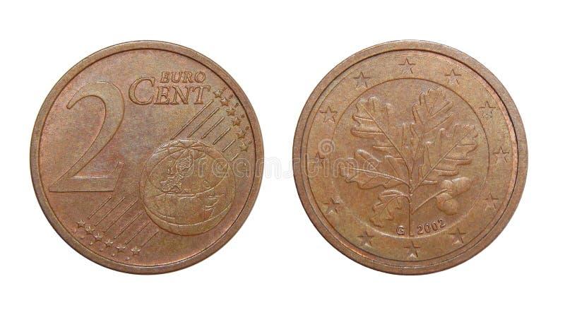 Euro cents Allemagne de la pièce de monnaie 2 images libres de droits