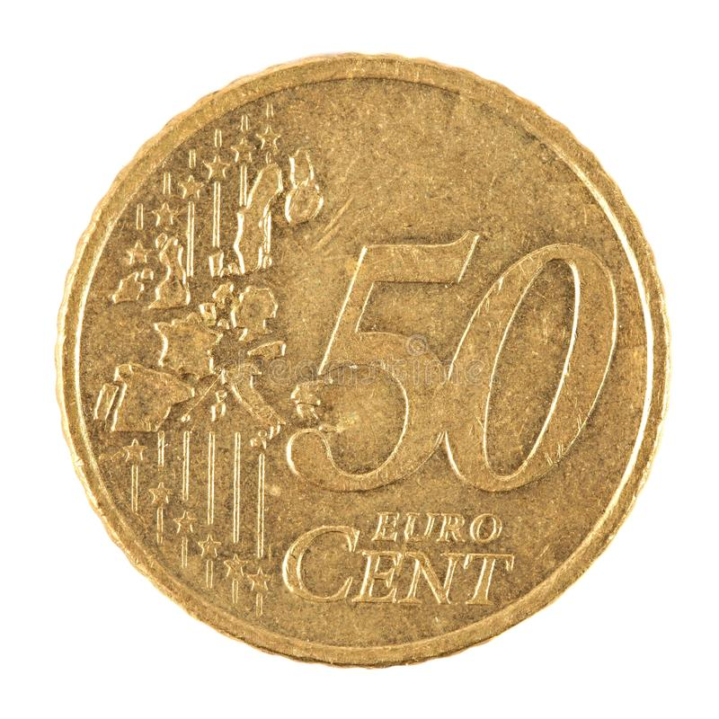 Euro centu moneta fotografia royalty free