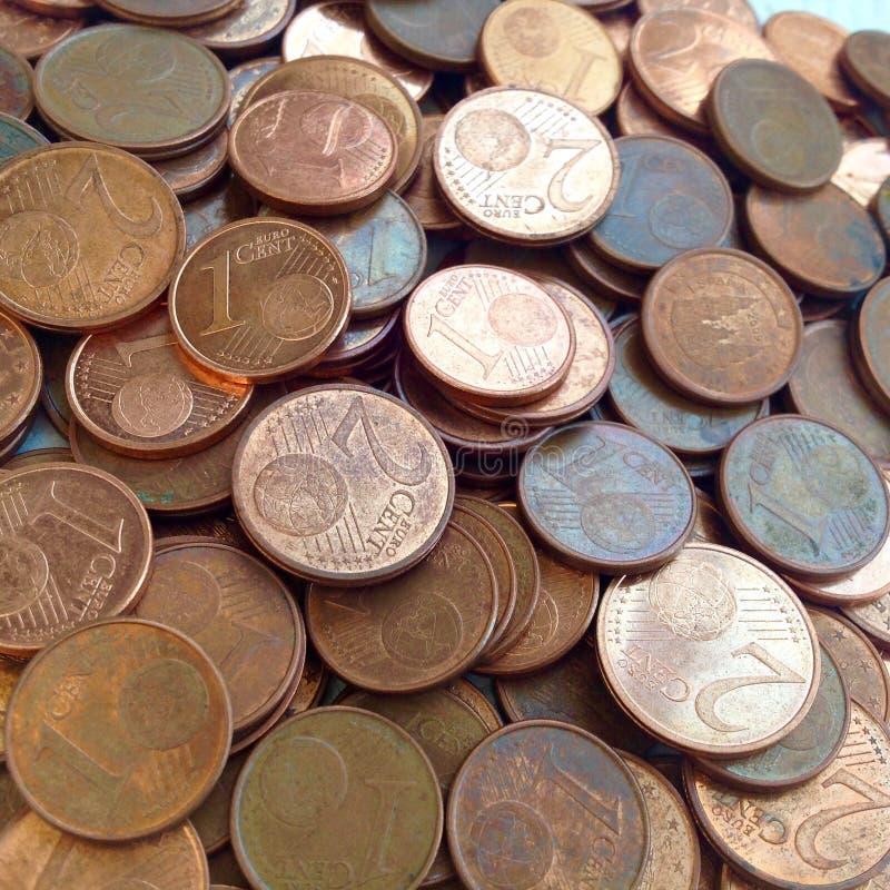 Euro centy zdjęcia stock