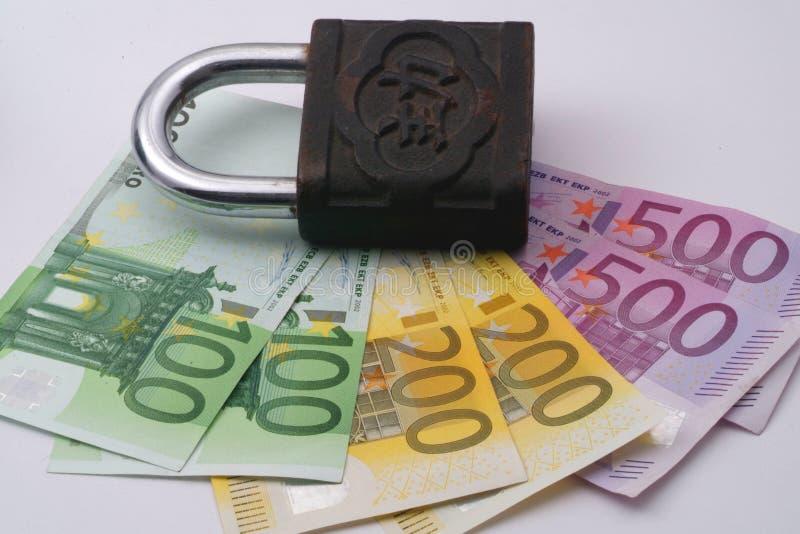 Euro chiuso a chiave fotografia stock