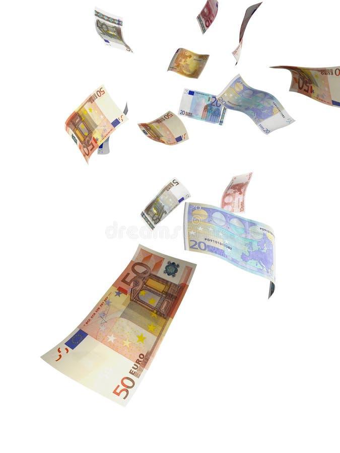 Euro- chuva do dinheiro imagens de stock royalty free
