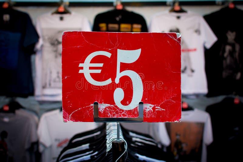 Euro cinco fotografía de archivo libre de regalías