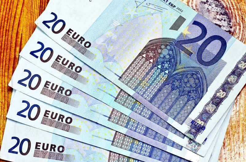 Euro cinq vingt photographie stock
