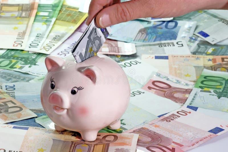 Download Euro cinque fotografia stock. Immagine di domestico, maiale - 3893288