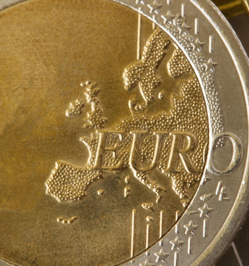 Download Euro coin stock photo. Image of object, market, close - 24199888