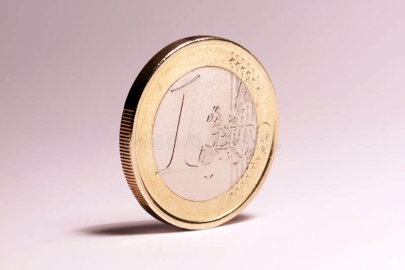 Download Euro coin stock image. Image of isolated, closeup, change - 6359045