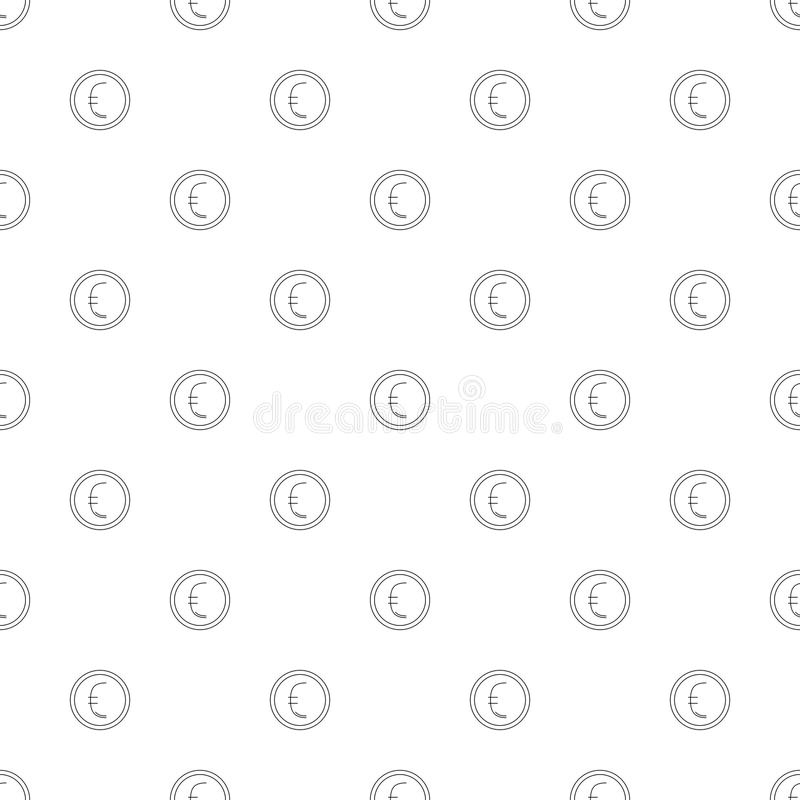 Euro coin background from line icon. royalty free illustration