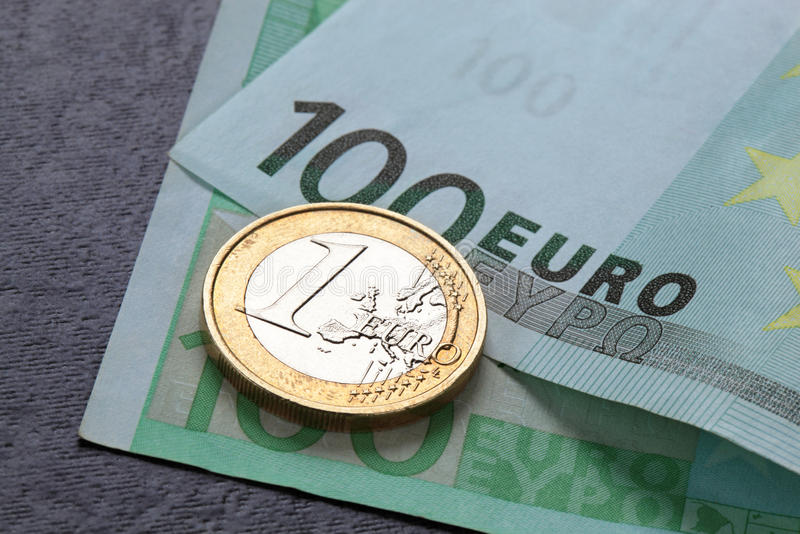 Download Euro coin and banknote stock photo. Image of change, funds - 23778508