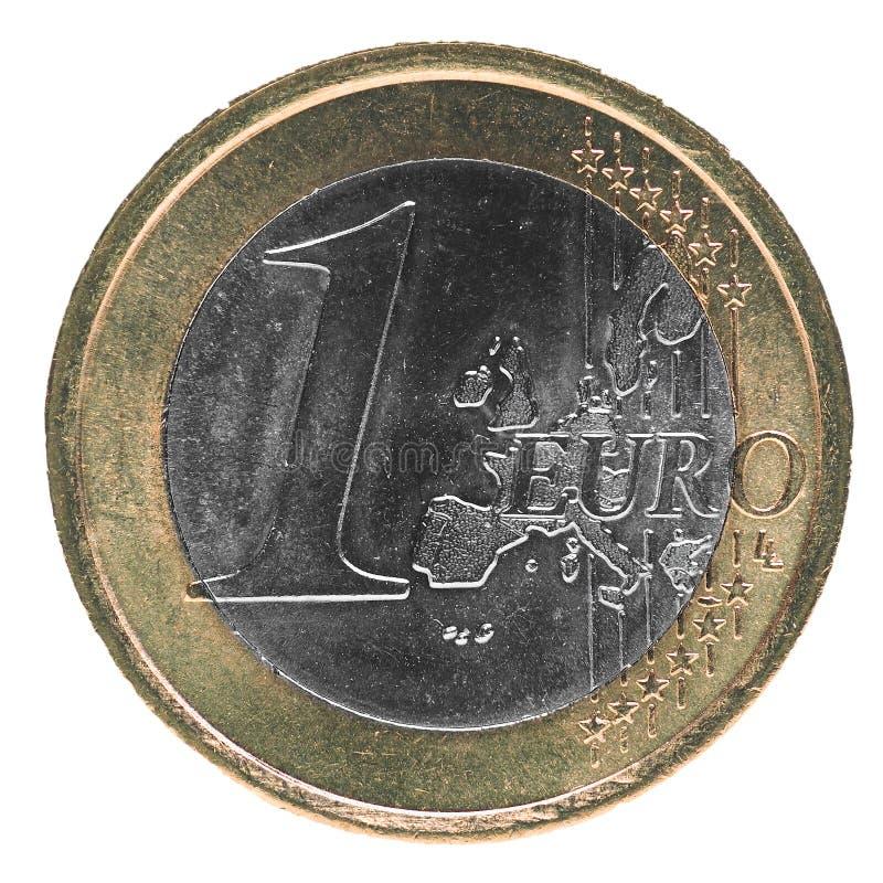 1 euro coin, European Union. 1 euro coin money (EUR), currency of European Union royalty free stock image