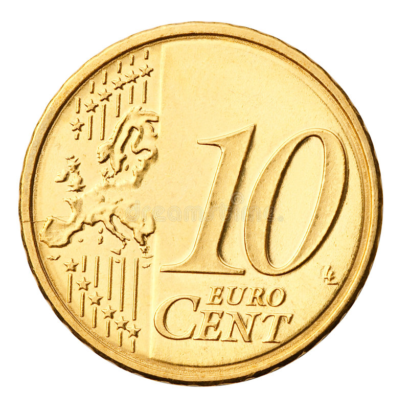 Download Euro Coin Isolated On White Stock Image - Image: 3538065