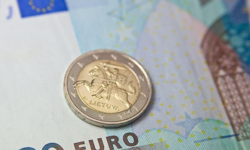Euro coin of Lithuania stock photography